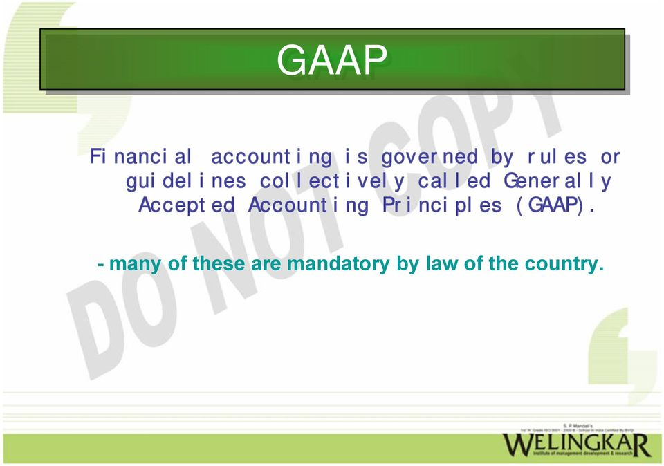 generally accepted accounting principles gaap Definition of gaap: generally accepted accounting principles a widely accepted set of rules, conventions, standards, and procedures for reporting.