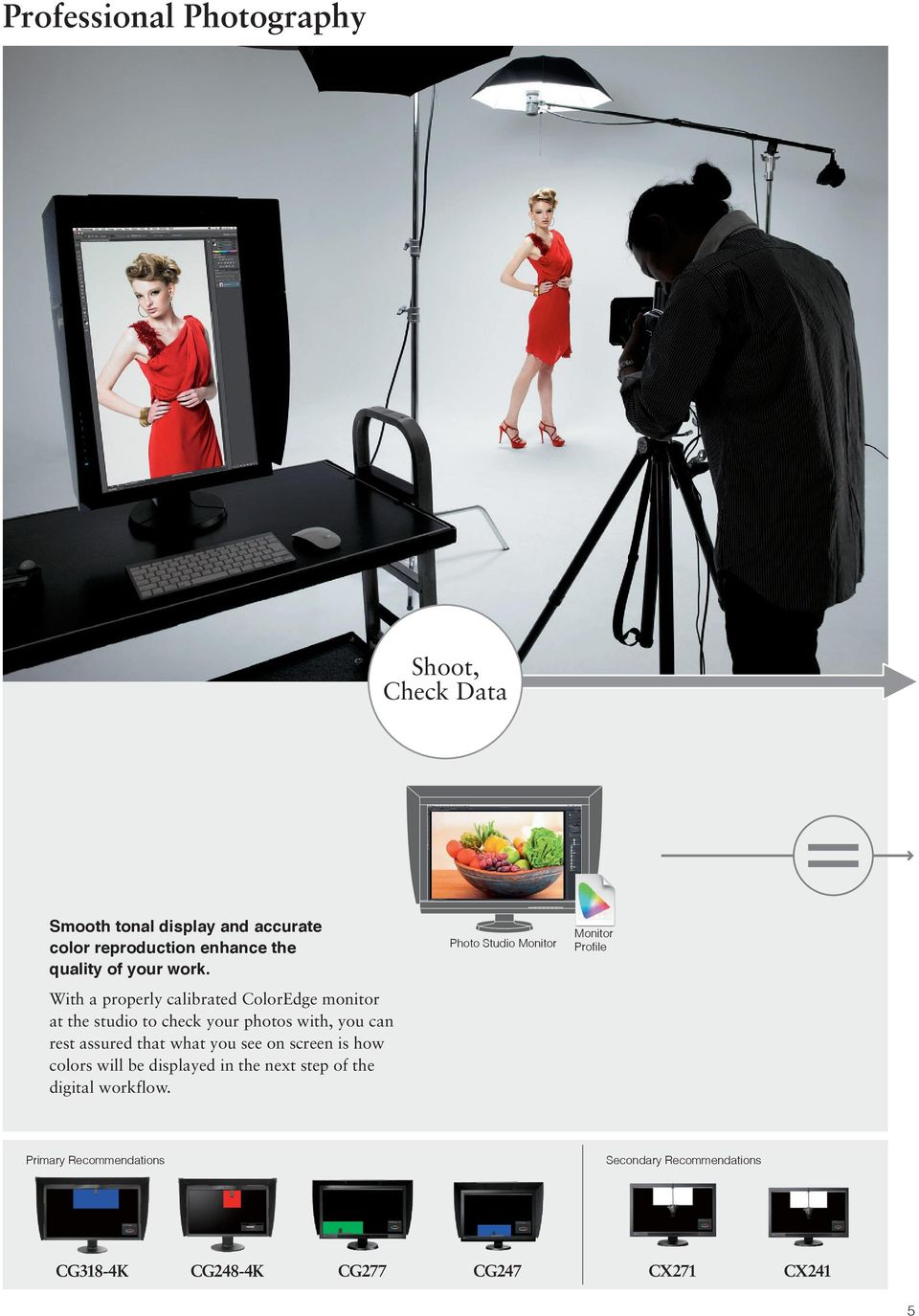 With a properly calibrated ColorEdge monitor at the studio to check your photos with, you can rest