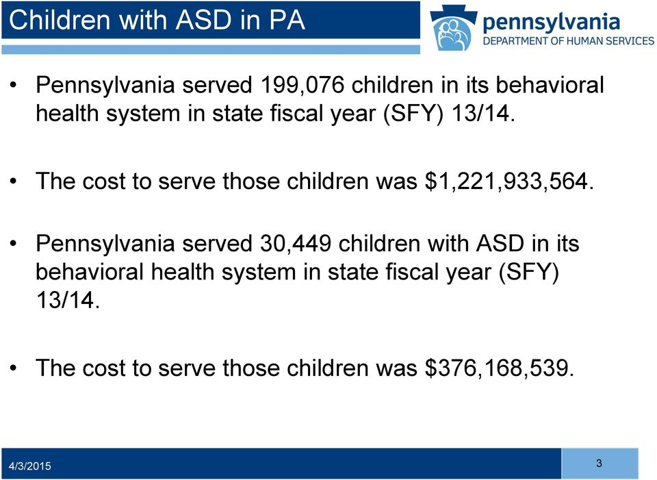 The cost to serve those children was $1,221,933,564.