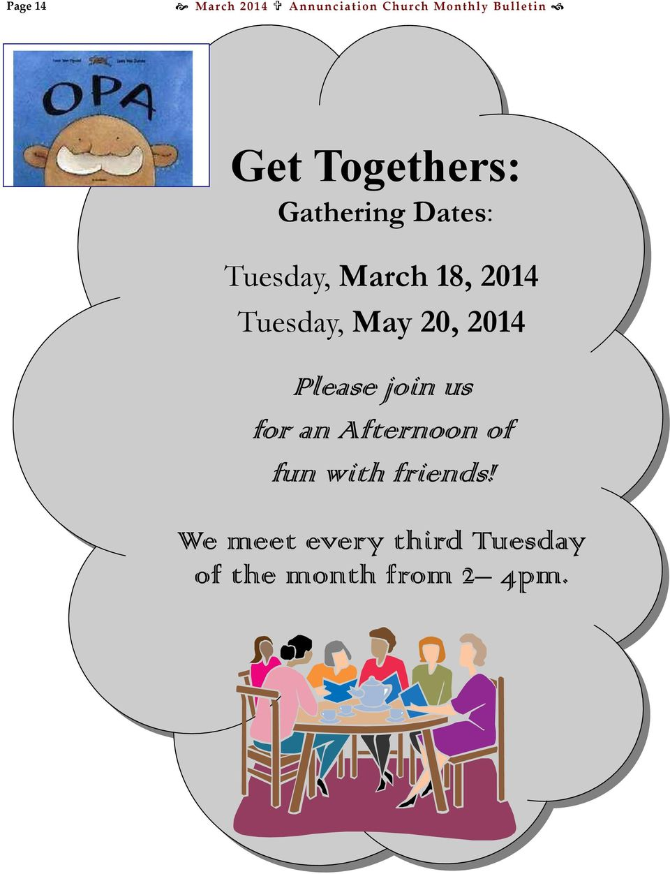 Tuesday, May 20, 2014 Please join us for an Afternoon of