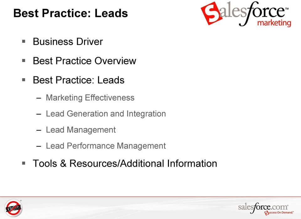 Lead Generation and Integration Lead Management Lead