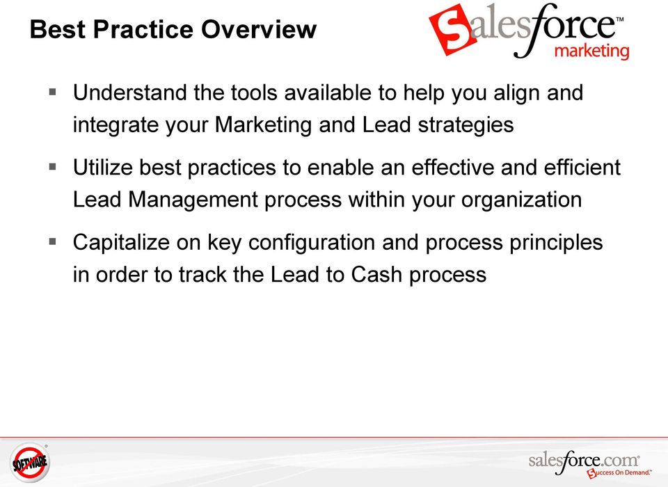 effective and efficient Lead Management process within your organization