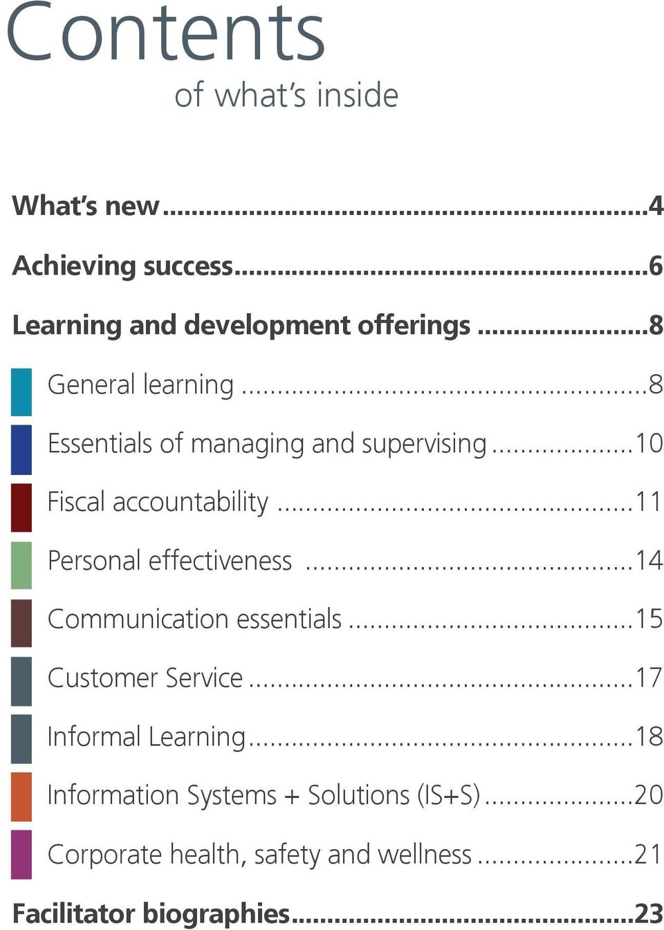 ..11 Personal effectiveness...14 Communication essentials...15 Customer Service...17 Informal Learning.