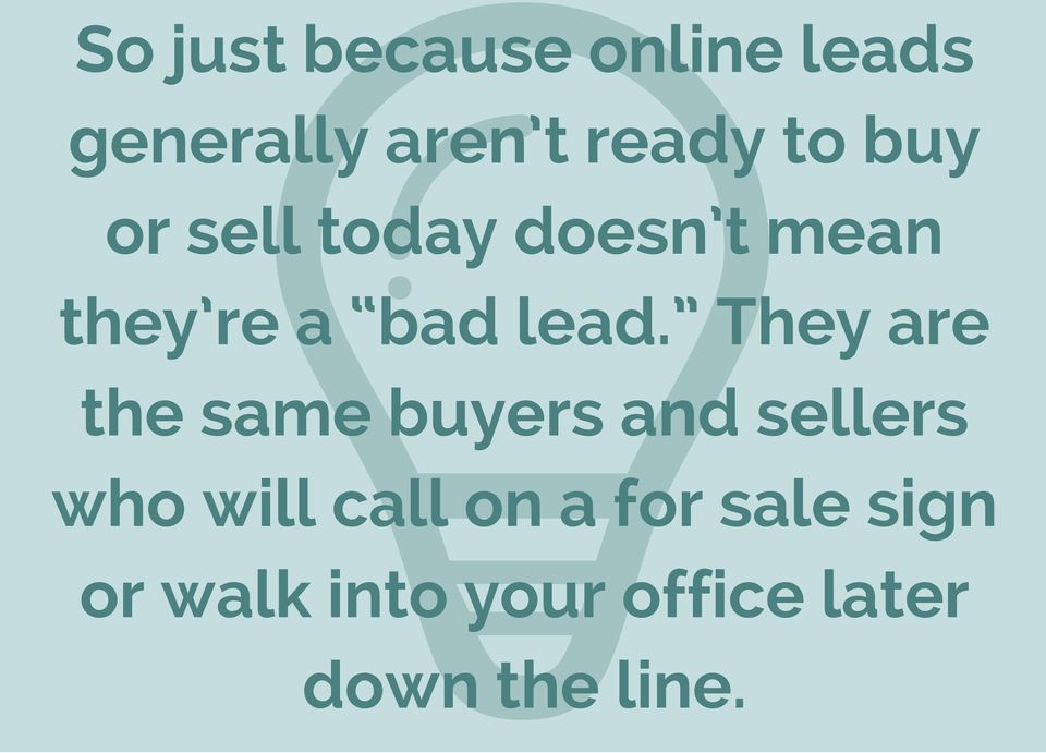 They are the same buyers and sellers who will call on a