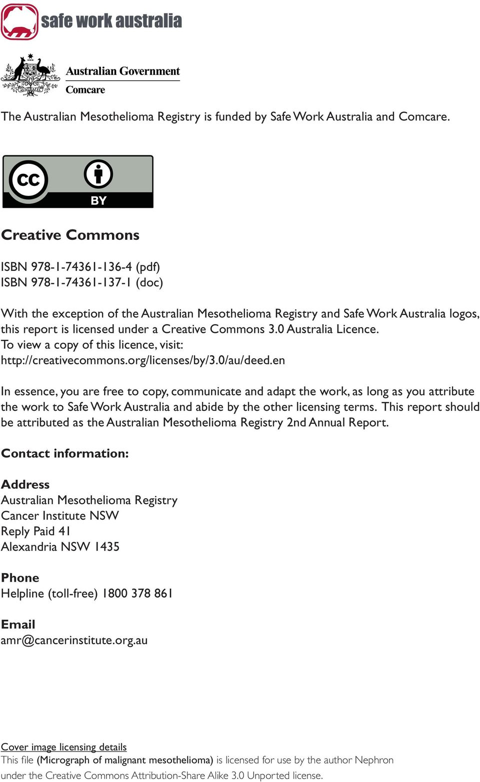 Creative Commons 3.0 Australia Licence. To view a copy of this licence, visit: http://creativecommons.org/licenses/by/3.0/au/deed.