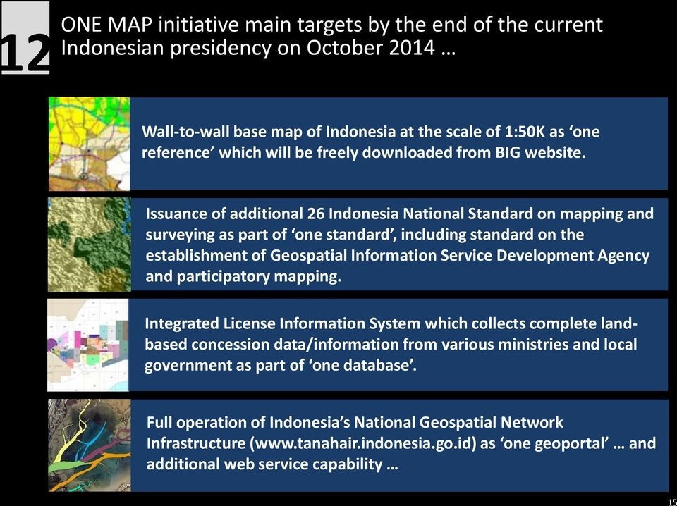 Issuance of additional 26 Indonesia National Standard on mapping and surveying as part of one standard, including standard on the establishment of Geospatial Information Service Development