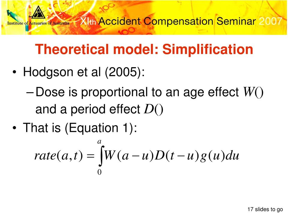 and a period effect D() That is (Equation 1):