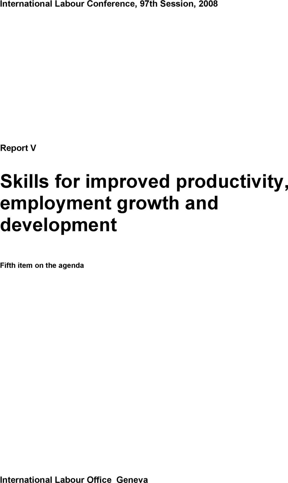 productivity, employment growth and