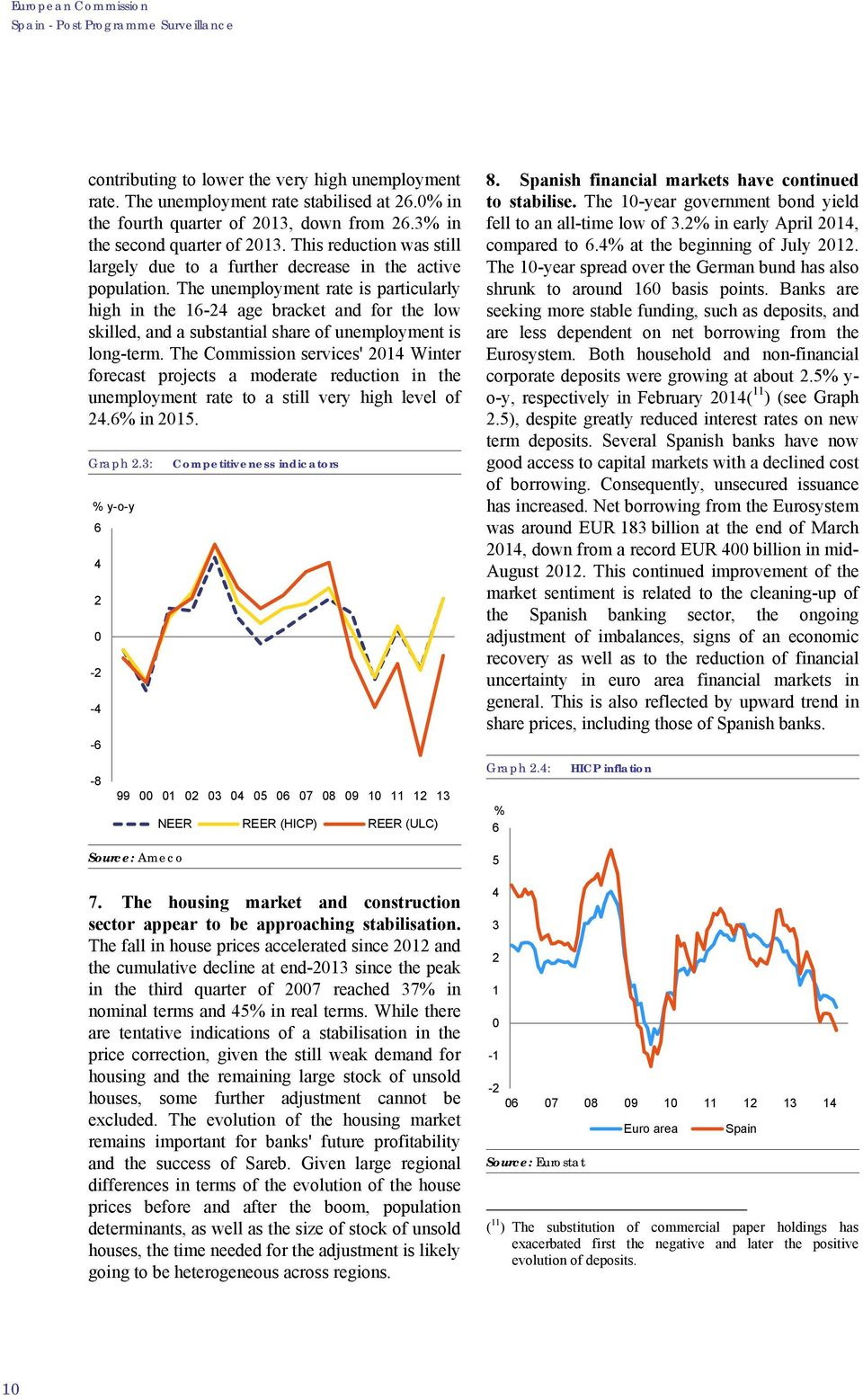 The unemployment rate is particularly high in the 16-24 age bracket and for the low skilled, and a substantial share of unemployment is long-term.