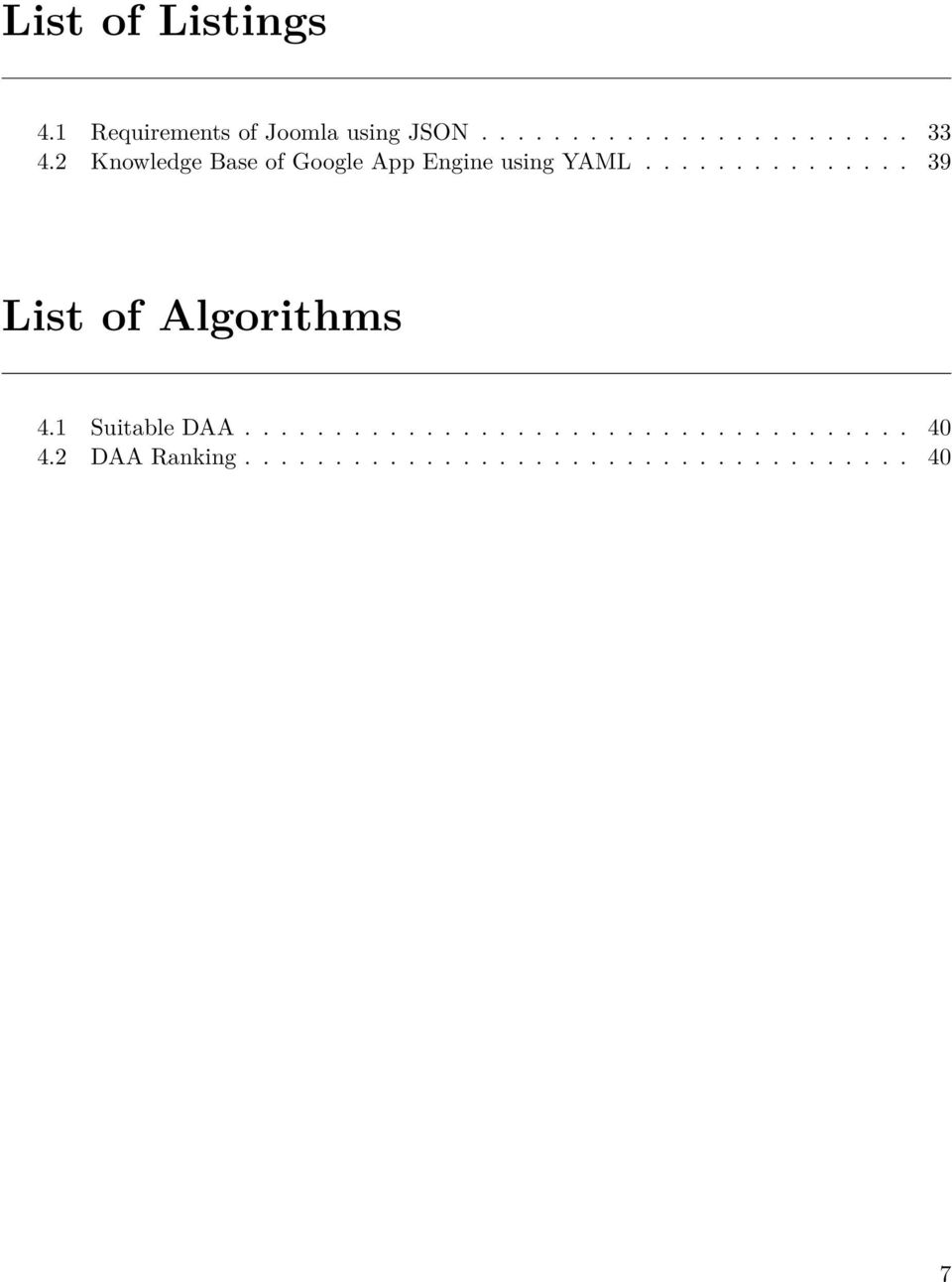 .............. 39 List of Algorithms 4.1 Suitable DAA..................................... 40 4.