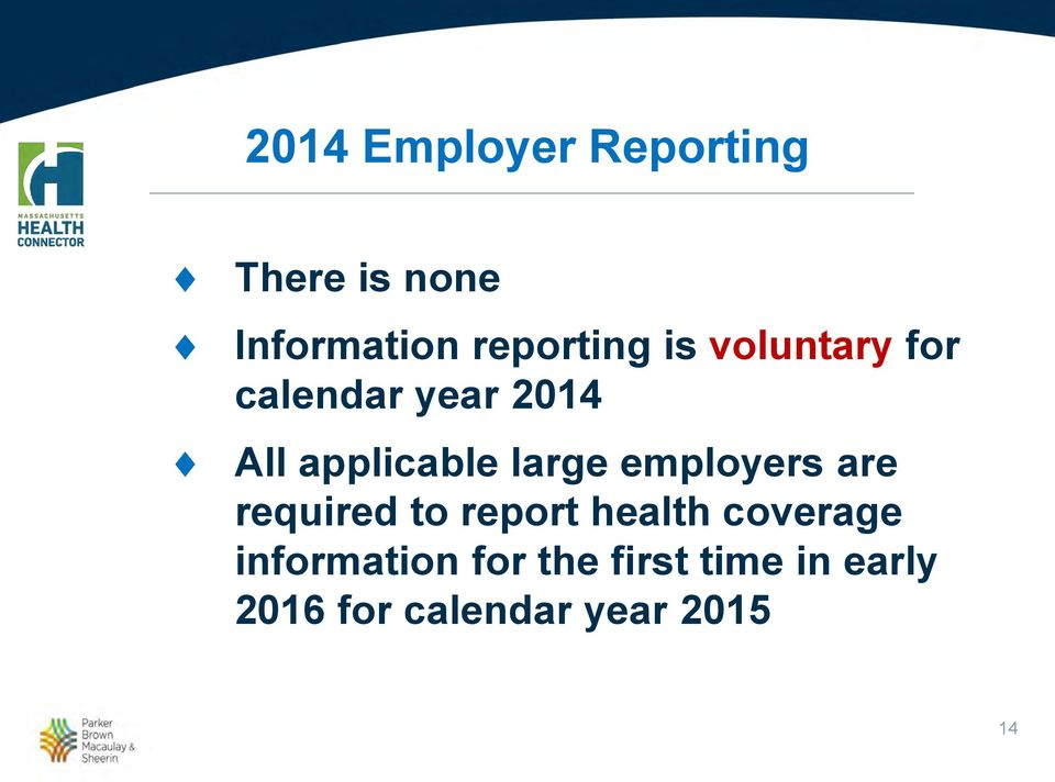 applicable large employers are required to report health