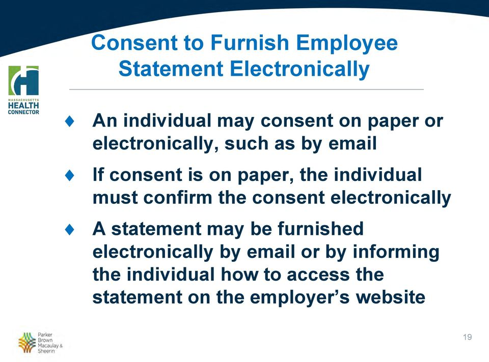 confirm the consent electronically A statement may be furnished electronically by