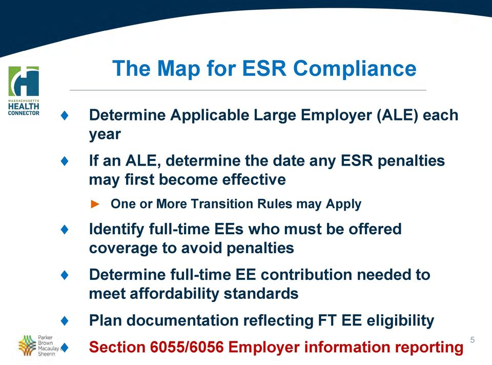 who must be offered coverage to avoid penalties Determine full-time EE contribution needed to meet