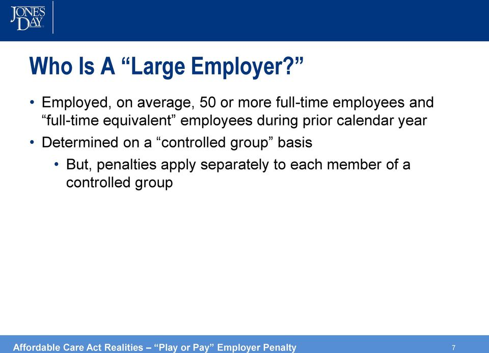 equivalent employees during prior calendar year Determined on a controlled