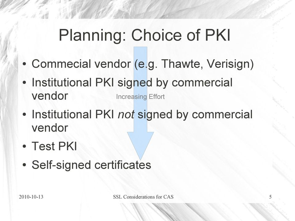 Thawte, Verisign) Institutional PKI signed by commercial