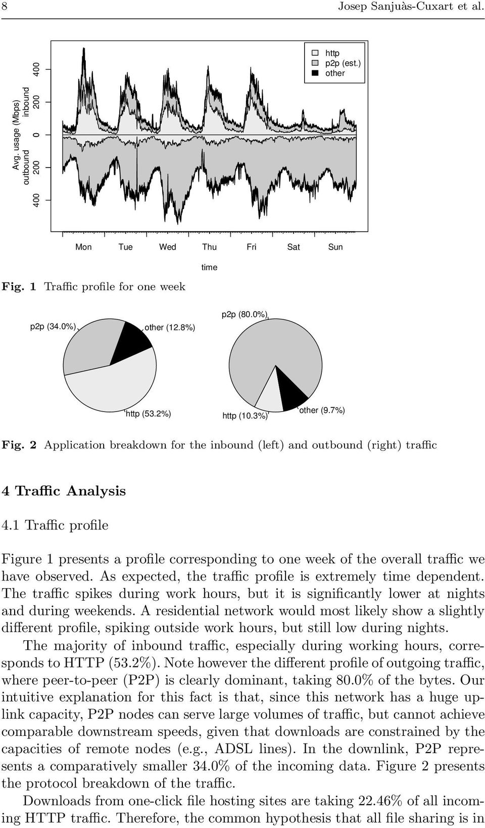 1 Traffic profile Figure 1 presents a profile corresponding to one week of the overall traffic we have observed. As expected, the traffic profile is extremely time dependent.