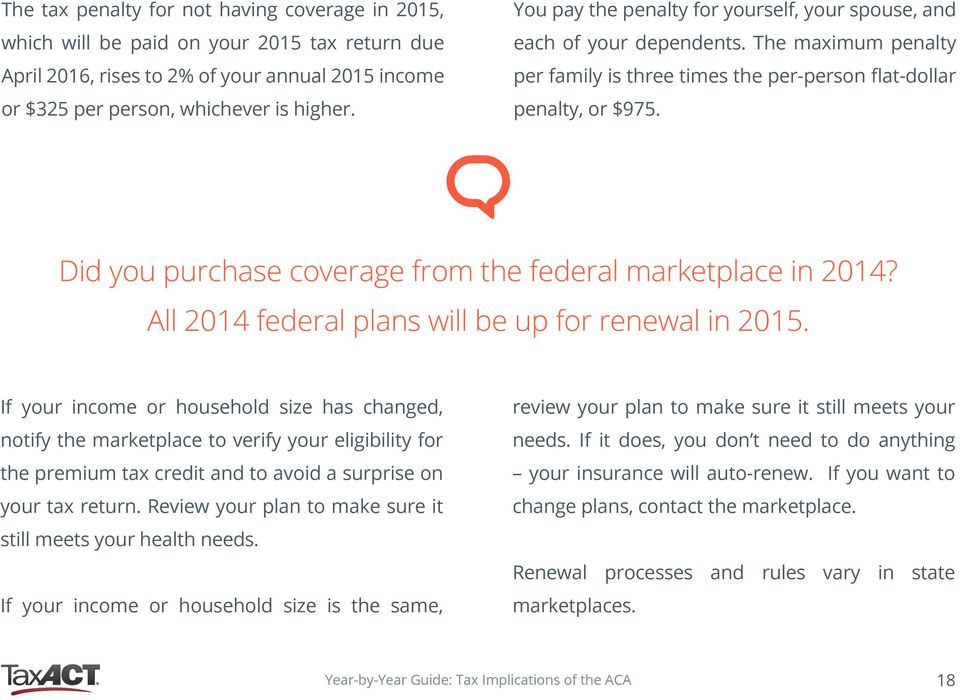 Did you purchase coverage from the federal marketplace in 2014? All 2014 federal plans will be up for renewal in 2015.