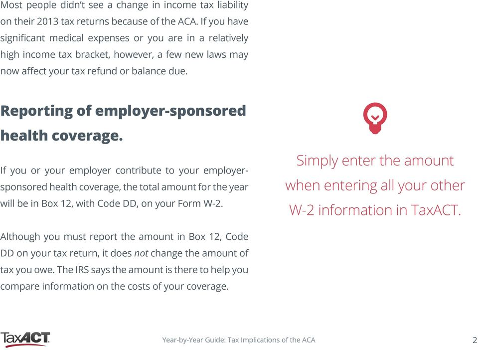 Reporting of employer-sponsored health coverage.