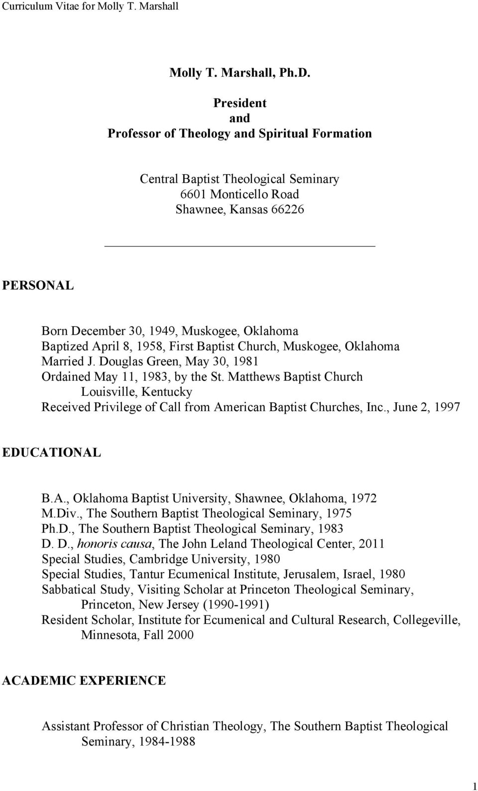 The Southern Baptist Journal of Theology