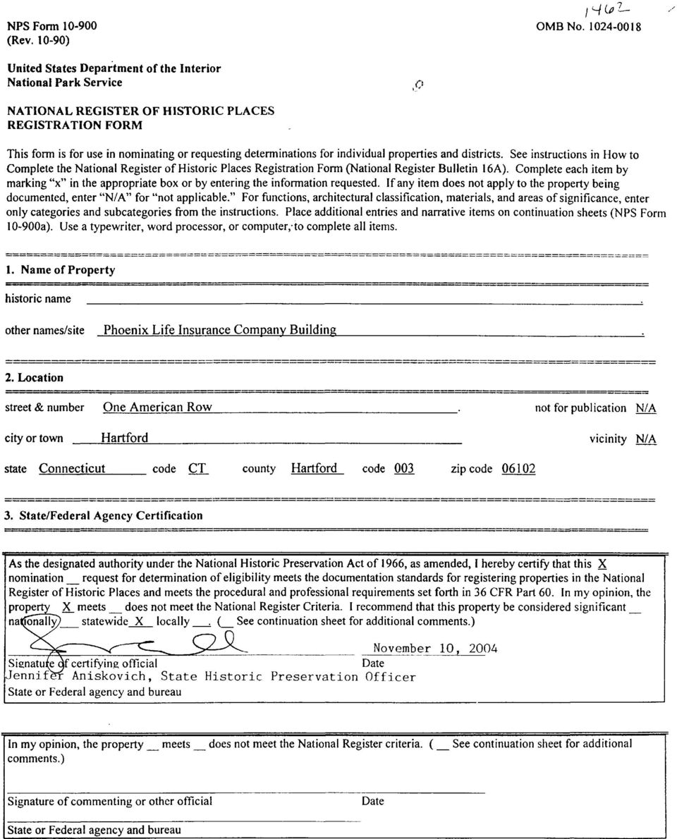 See instructions in How to Complete the National Register of Historic Places Registration Form (National Register Bulletin 16A).