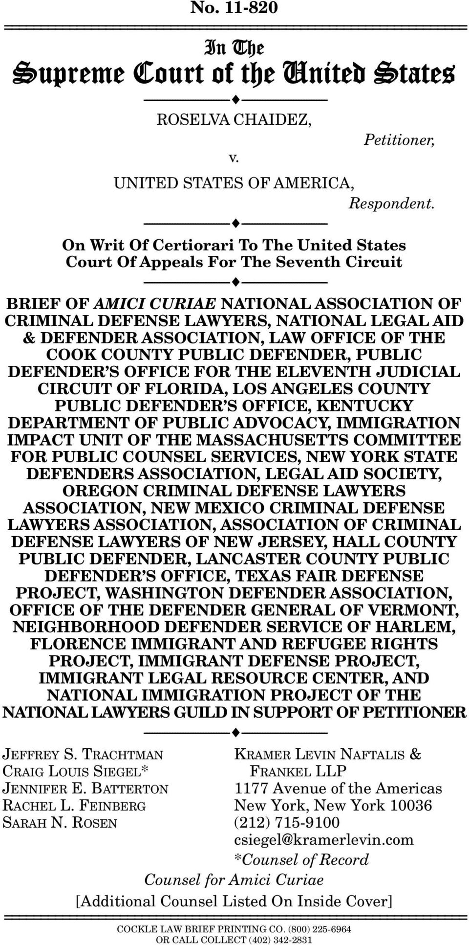 --------------------------------- --------------------------------- On Writ Of Certiorari To The United States Court Of Appeals For The Seventh Circuit ---------------------------------
