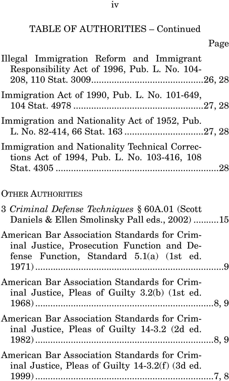 .. 28 OTHER AUTHORITIES 3 Criminal Defense Techniques 60A.01 (Scott Daniels & Ellen Smolinsky Pall eds., 2002).