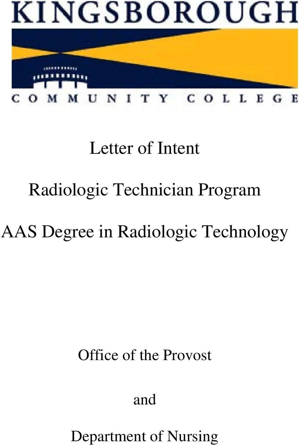 Radiologic Technology Office of
