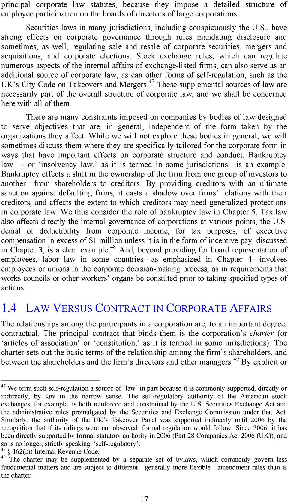 resale of corporate securities, mergers and acquisitions, and corporate elections.
