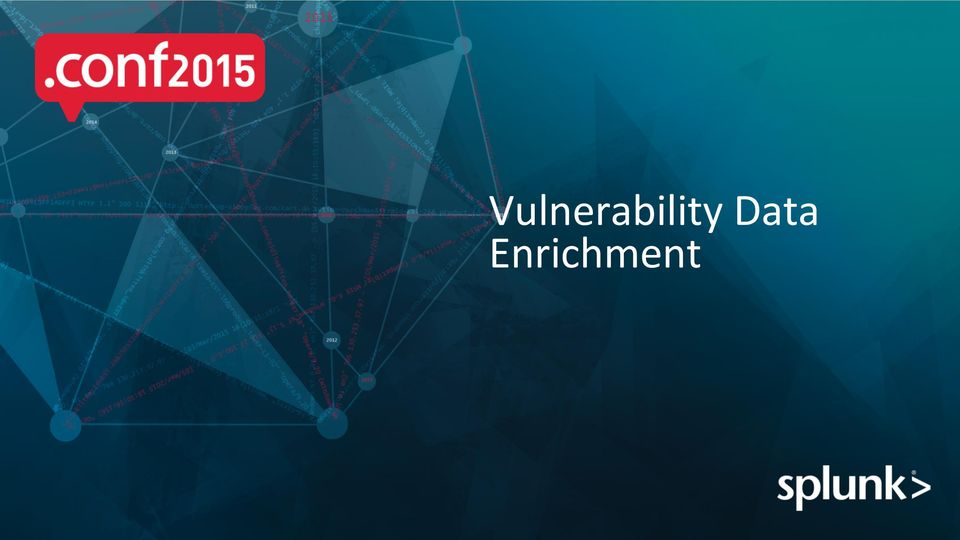 Copyright 2015 Splunk Inc  Affordable Security: Making the
