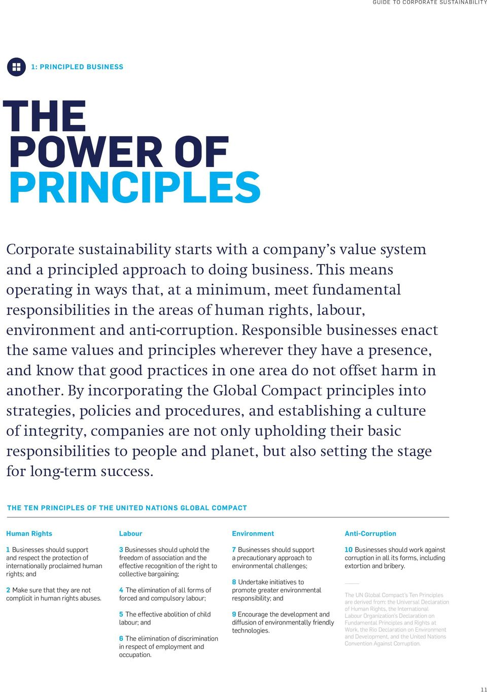 Responsible businesses enact the same values and principles wherever they have a presence, and know that good practices in one area do not offset harm in another.