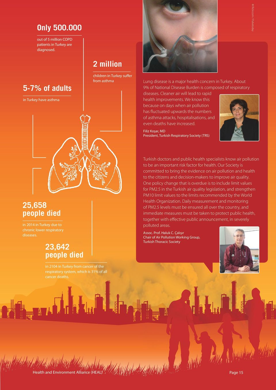 About 9% of National Disease Burden is composed of respiratory diseases. Cleaner air will lead to rapid health improvements.
