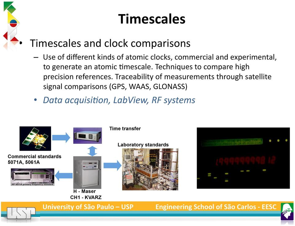 Traceability of measurements through satellite signal comparisons (GPS, WAAS, GLONASS) Data