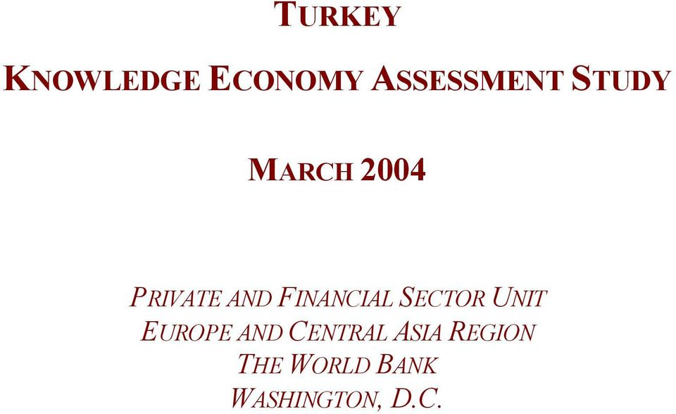 FINANCIAL SECTOR UNIT EUROPE AND