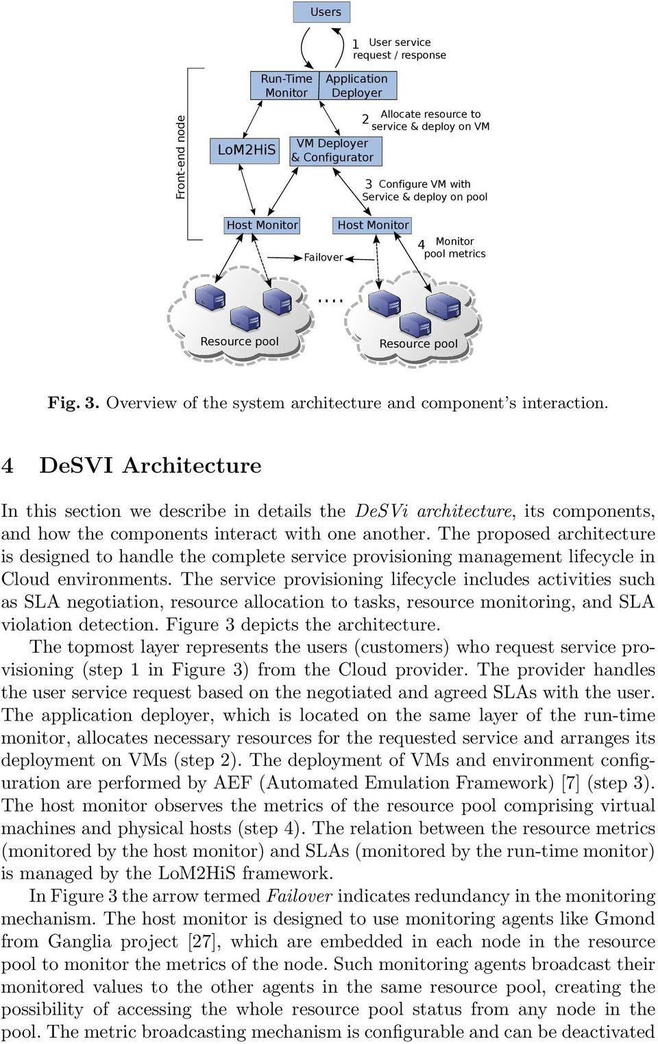 4 DeSVI Architecture In this section we describe in details the DeSVi architecture, its components, and how the components interact with one another.
