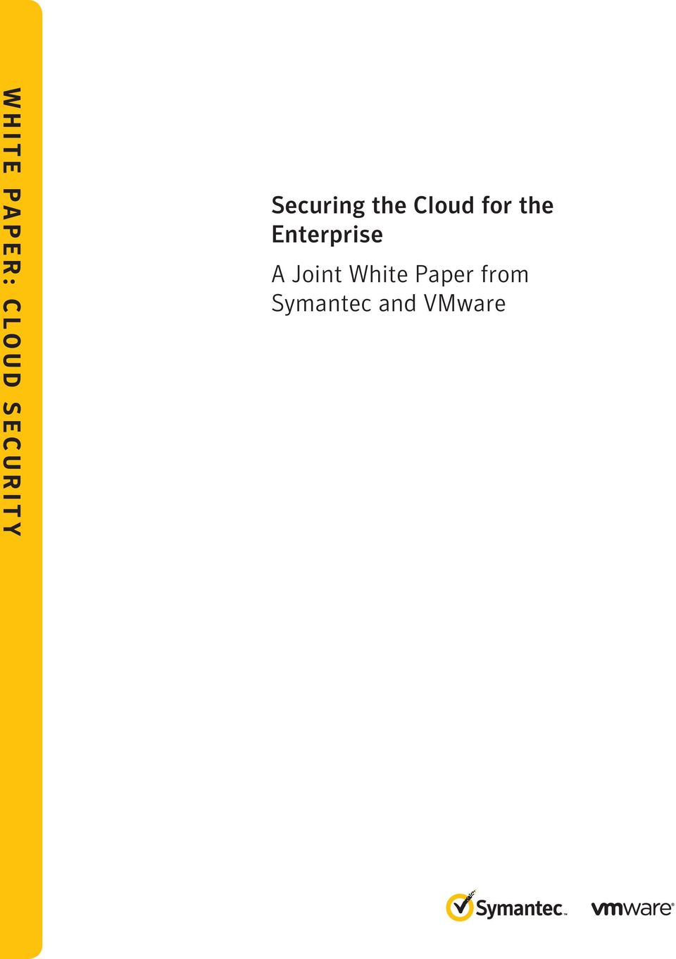 Cloud for the Enterprise A Joint