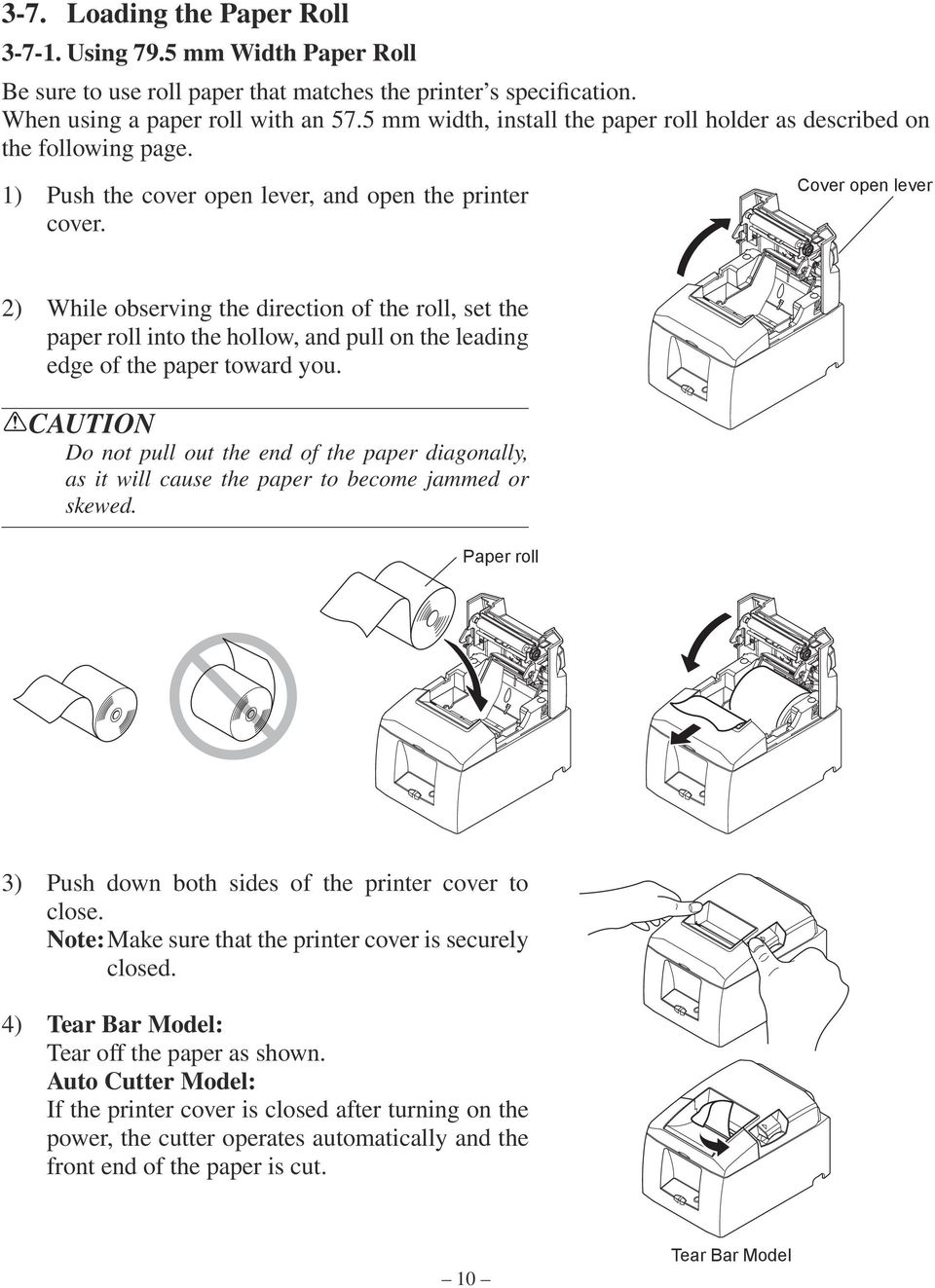 THERMAL PRINTER TSP650 SERIES  Hardware Manual - PDF
