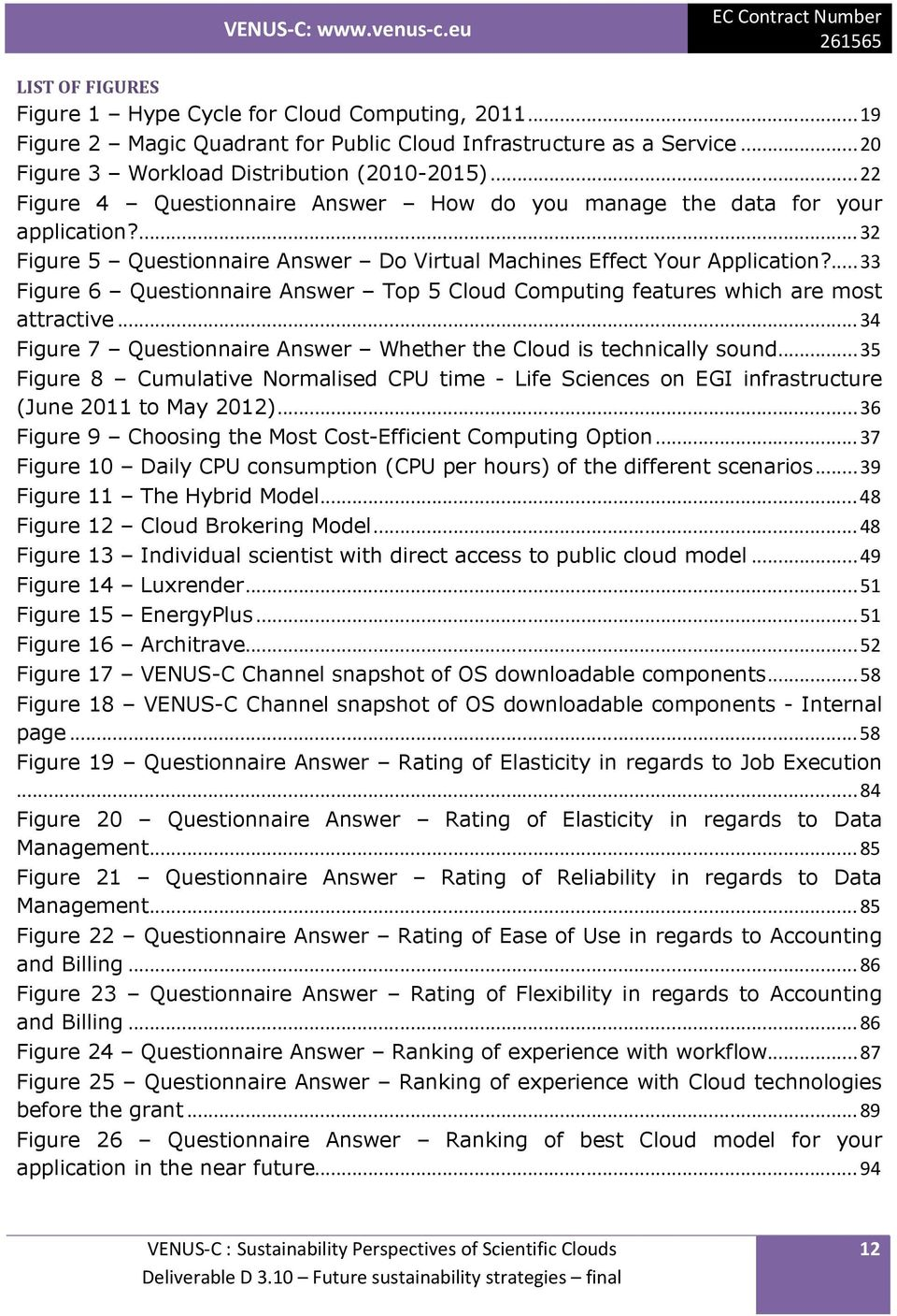...33 Figure 6 Questionnaire Answer Top 5 Cloud Computing features which are most attractive...34 Figure 7 Questionnaire Answer Whether the Cloud is technically sound.