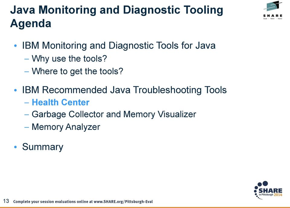 IBM Recommended Java Troubleshooting Tools Health