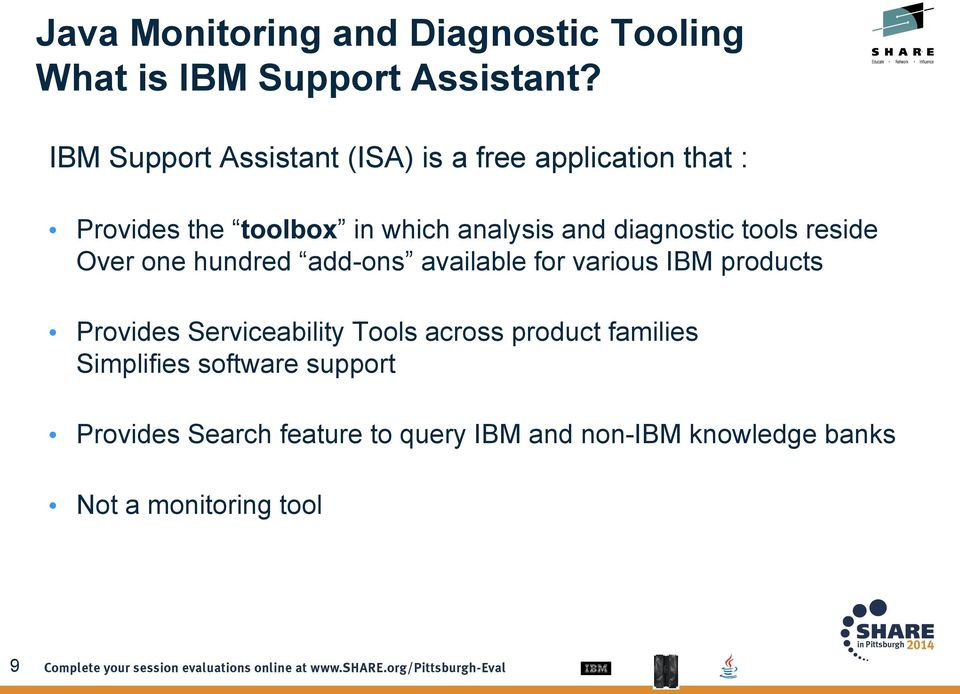 and diagnostic tools reside Over one hundred add-ons available for various IBM products Provides