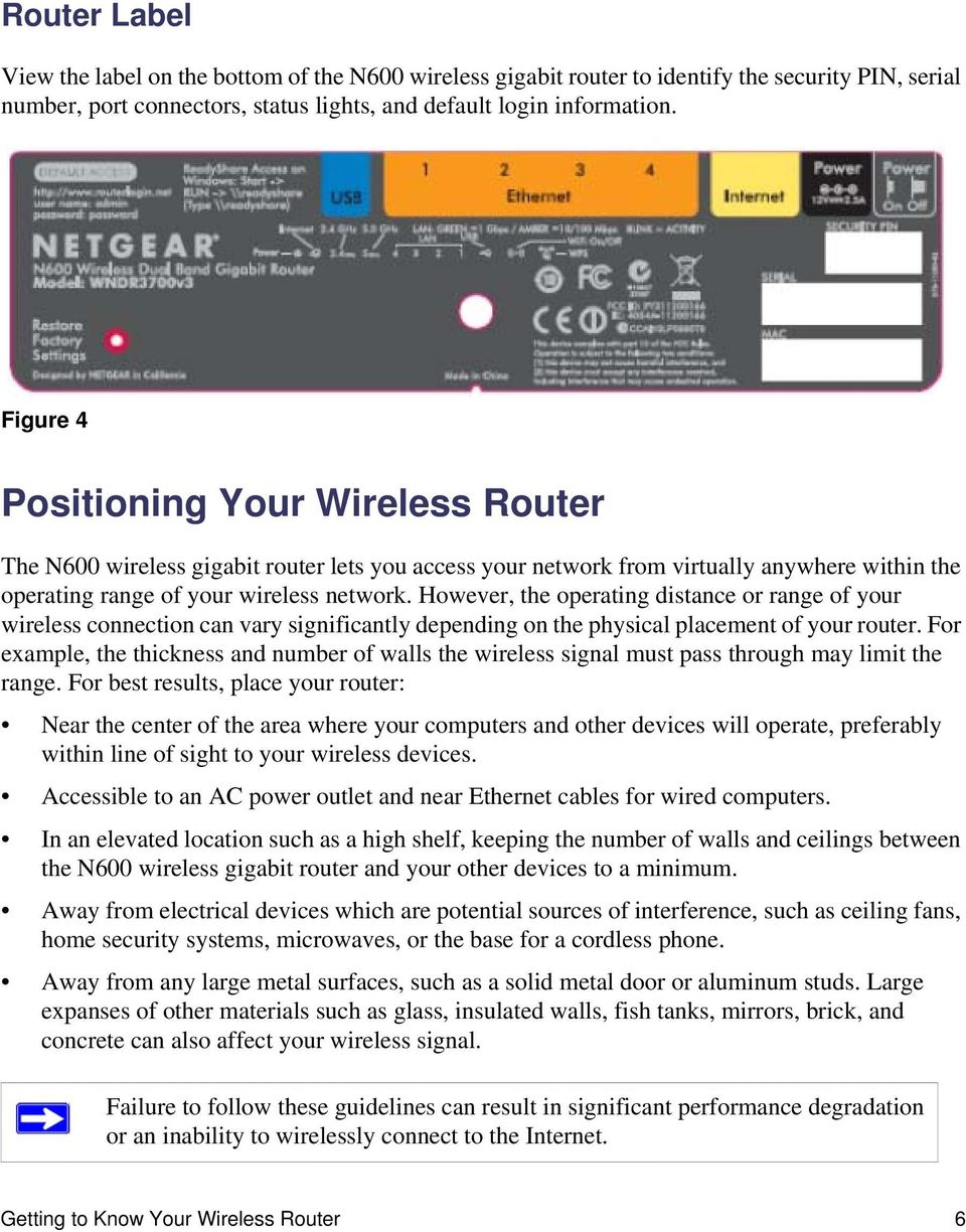 However, the operating distance or range of your wireless connection can vary significantly depending on the physical placement of your router.