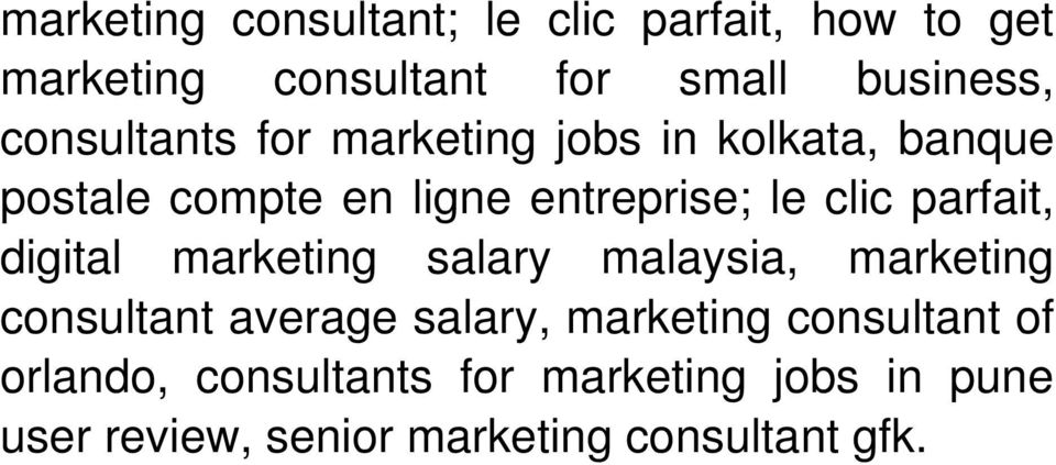 parfait, digital marketing salary malaysia, marketing consultant average salary, marketing