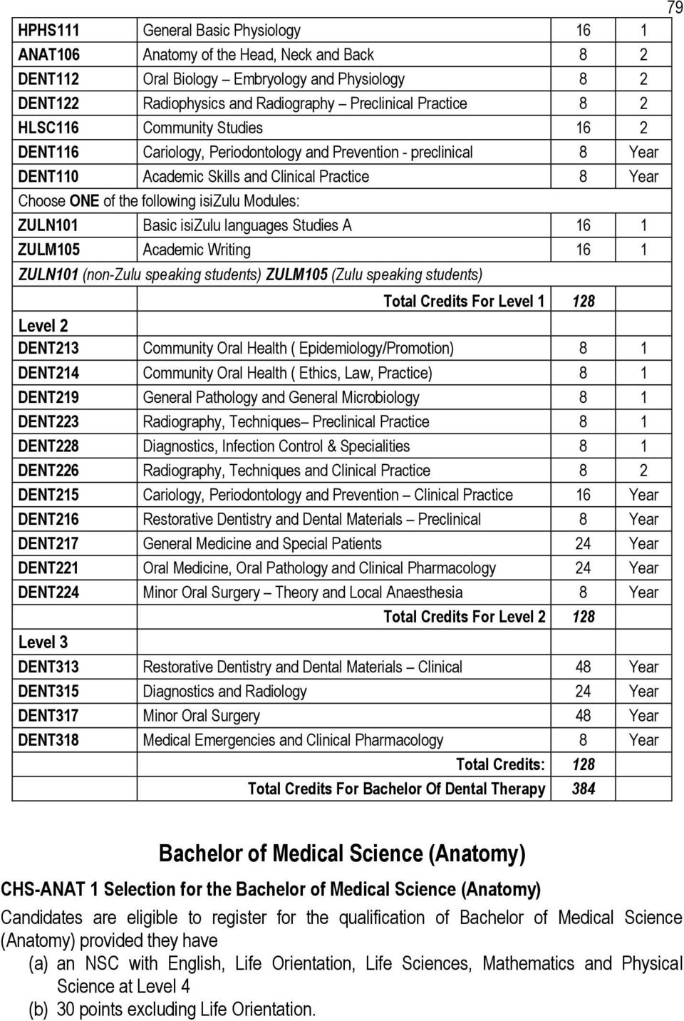 COLLEGE OF HEALTH SCIENCES ACADEMIC RULES... - PDF