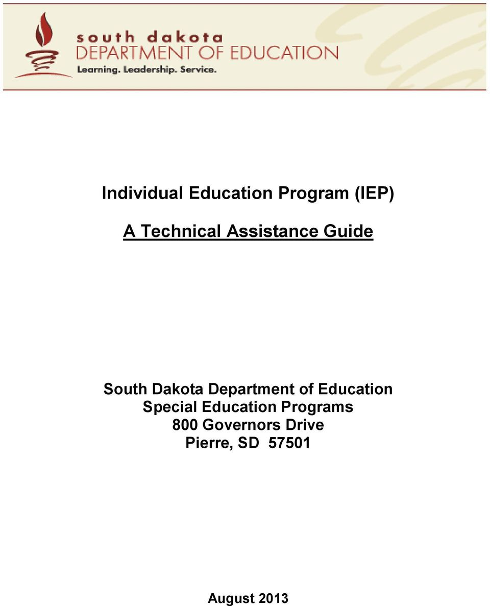 Department of Education Special Education