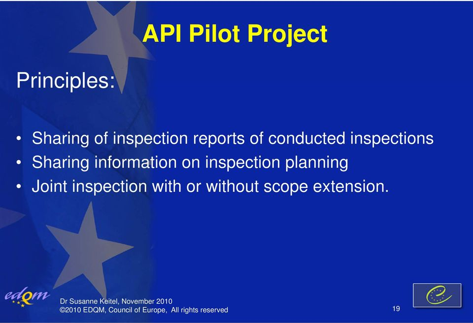inspection planning Joint inspection with or without