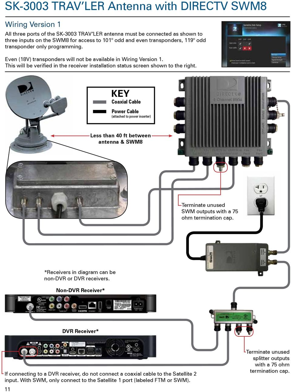 Wiring for directv whole house dvr diagram