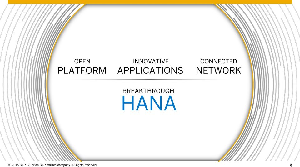 BREAKTHROUGH HANA 2015 SAP SE or