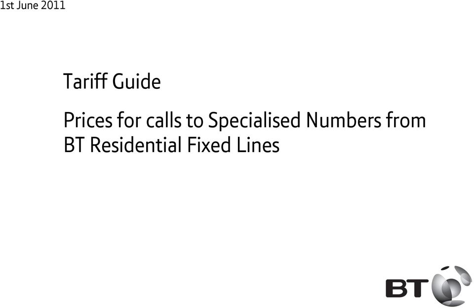 Residential Fixed Lines otherwise stated.