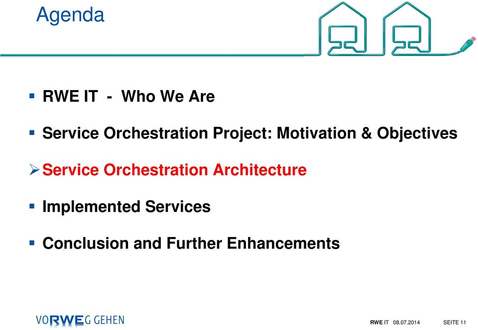 Orchestration Architecture Implemented Services