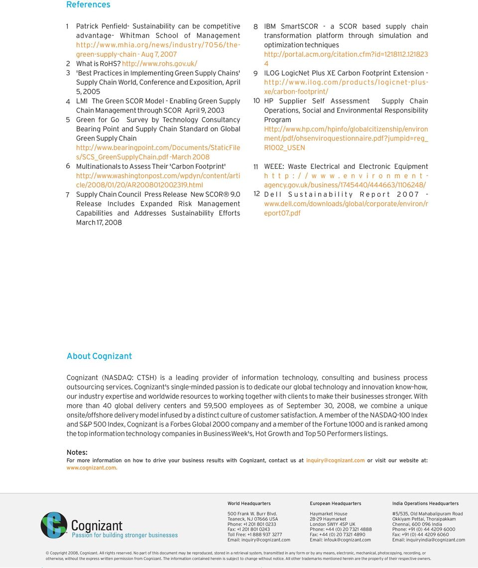 Cognizant white paper creating a green supply chain information uk 3 best practices in implementing green supply chains supply chain world fandeluxe Images