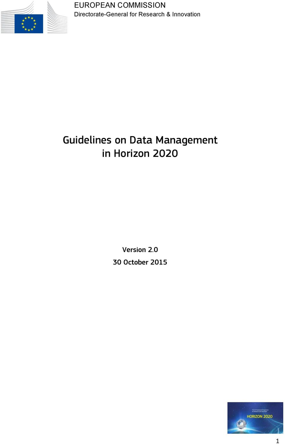 Innovation Guidelines on Data